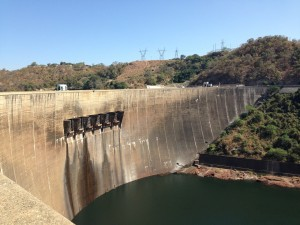 Kariba dam wall- memories of Operation Noah.