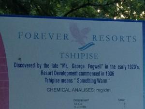 Tshipise spring
