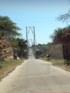 Bridge across the Zambezi into Zambia at Chirundu