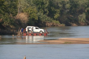 Pontoon into North Luangwa
