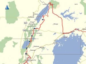 Route in Uganda