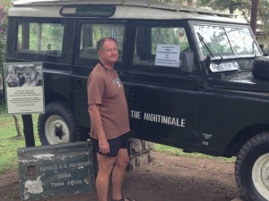 The Land Rover in which George Adamson and his colleagues were murdered