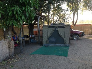 Kande Beach camp site