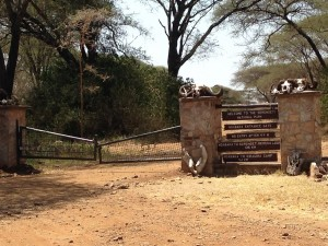 Inconspicuous western entrance to the 'World Renowned' Serengeti!