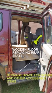 Wooden Floor replacing the rear seats